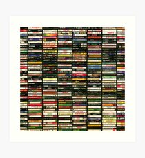 Tapes and Tapes and Tapes Art Print