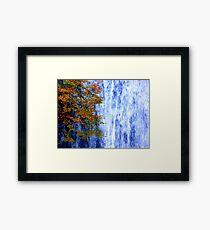 autumn waterfall 1 Framed Print