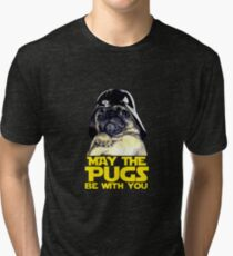 Funny Star Wars May The Pugs Be With You Tri-blend T-Shirt