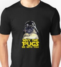 Funny Star Wars May The Pugs Be With You T-Shirt