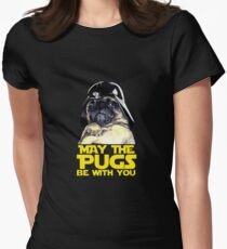 Funny Star Wars May The Pugs Be With You Womens Fitted T-Shirt
