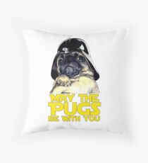 Funny Star Wars May The Pugs Be With You Throw Pillow