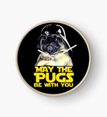 Funny Star Wars May The Pugs Be With You Clock