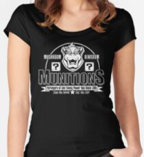 Mushroom Kingdom Munitions Women's Fitted Scoop T-Shirt