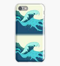 Wave in the ocean iPhone Case/Skin