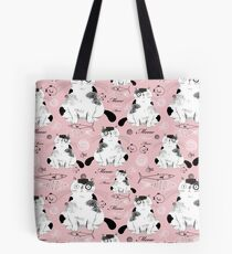 pattern with cats  Tote Bag