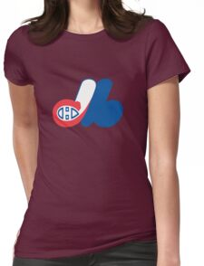 Habs - Expos Logo Mashup Womens Fitted T-Shirt
