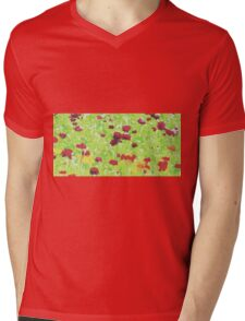 red yellow and green nature abstract background Mens V-Neck T-Shirt
