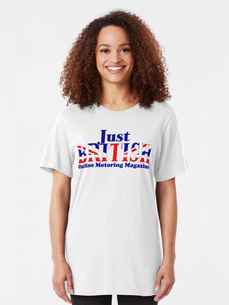 Alternate view of Just British Online Motoring Magazine Slim Fit T-Shirt