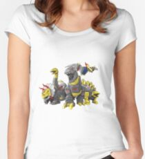 dinobot by bx brix Women's Fitted Scoop T-Shirt
