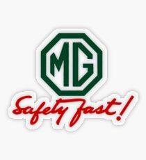 MG Safety Fast Transparent Sticker