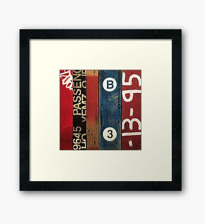 Blue Vitriol Framed Print