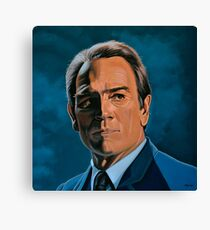 Tommy Lee Jones Painting Canvas Print