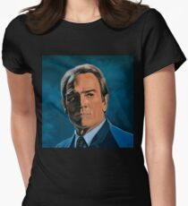 Tommy Lee Jones Painting Womens Fitted T-Shirt