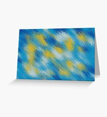 blue and yellow painting texture abstract background Greeting Card