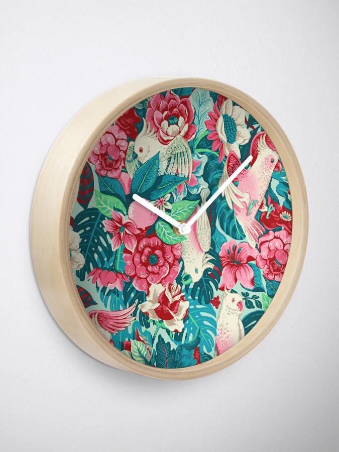 Alternate view of Florida Tapestry - daytime version Clock