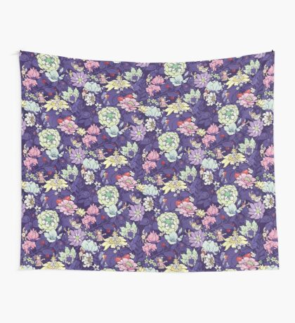 The Garden Party - blueberry tea version Wall Tapestry