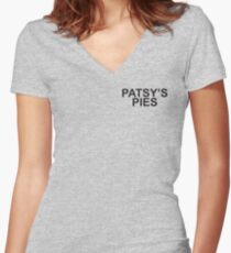 Patsy's Pies Women's Fitted V-Neck T-Shirt