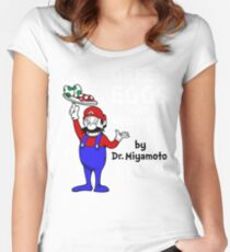 Green Eggs and Mushrooms Women's Fitted Scoop T-Shirt