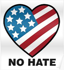 No Hate!  Poster