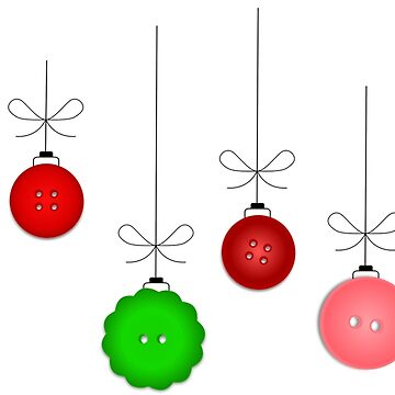 Button Holiday Ornaments by hlynn89