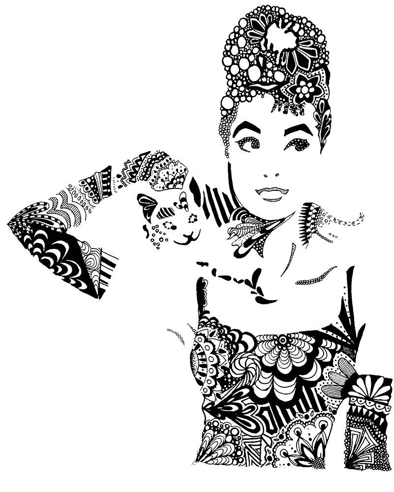 Audrey Hepburn by kbalames