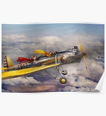 Flying Pig - Plane -The joy ride Poster