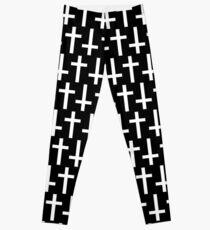 Legging Cruces negras / blancas