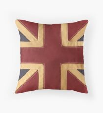 Stitched Union Jack Throw Pillow