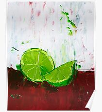 Zesting a Lime Poster