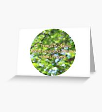 Strong Roots Greeting Card