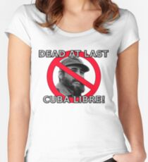 Castro is dead! Women's Fitted Scoop T-Shirt