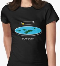 Flat Earth Theory Diagram Women's Fitted T-Shirt