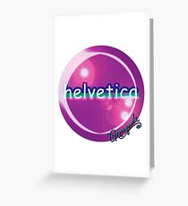 helvetica sample for cool designers Greeting Card