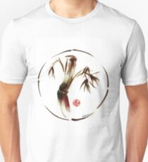 """eternity"" :  Enso sumi-e dry brush acrylic painting   T-Shirt"