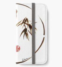 """eternity"" :  Enso sumi-e dry brush acrylic painting   iPhone Wallet/Case/Skin"