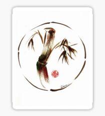 """eternity"" :  Enso sumi-e dry brush acrylic painting   Sticker"