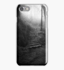 Mountain Steps B&W (Holga) iPhone Case/Skin