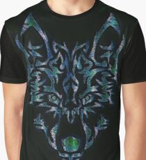Tribal Wolf Design Graphic T-Shirt