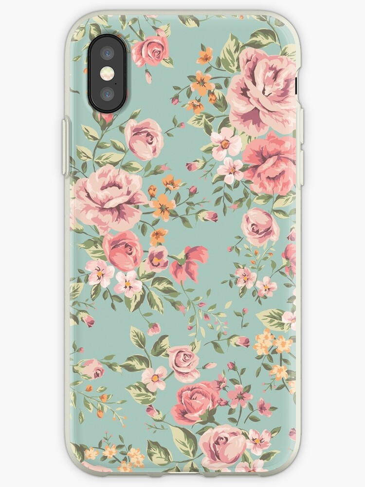 promo code 2149a ab3c0 'Vintage Floral Pattern' iPhone Case by B Rush
