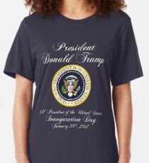 President Donald J. Trump Inauguration Day 2017 Slim Fit T-Shirt