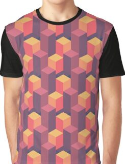 Sunset Isometric Graphic T-Shirt