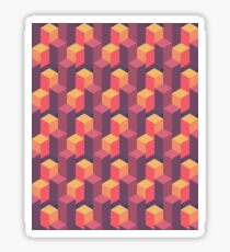 Sunset Isometric Sticker