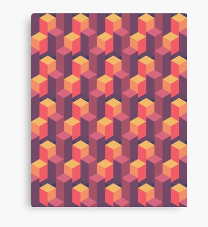 Sunset Isometric Canvas Print