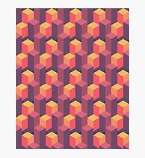 Sunset Isometric Photographic Print