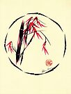 Forgive - Enso bamboo brush painting by Rebecca Rees