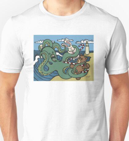 Teddy Bear And Bunny - Epic Battle T-Shirt