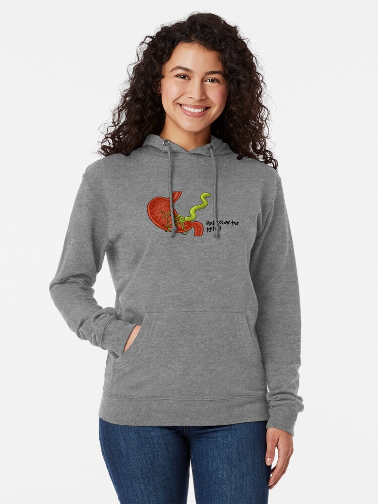 Alternate view of Helicobacter pylori  Lightweight Hoodie