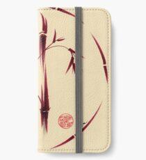 Sacred Circle - Original Enso Zen Painting iPhone Wallet/Case/Skin