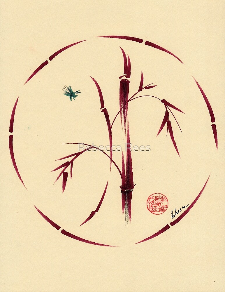 Sacred Circle - Original Enso Zen Painting by Rebecca Rees
